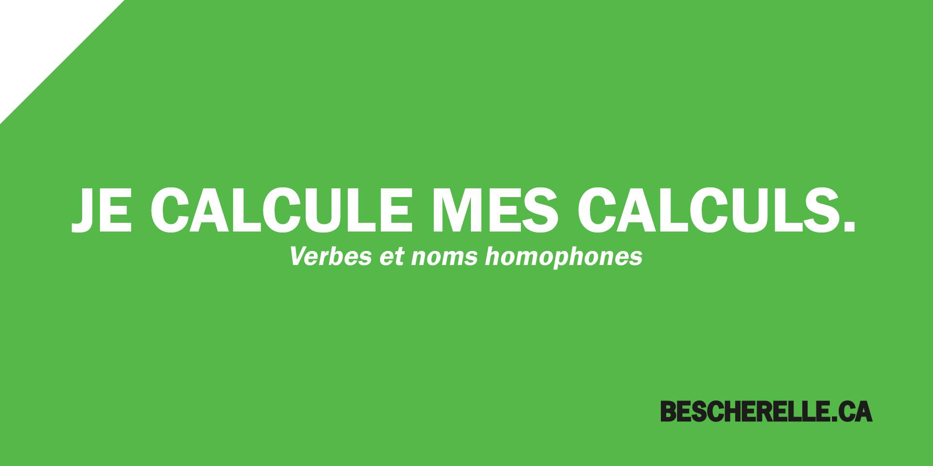 Verbes Et Noms Homophones Bescherelle