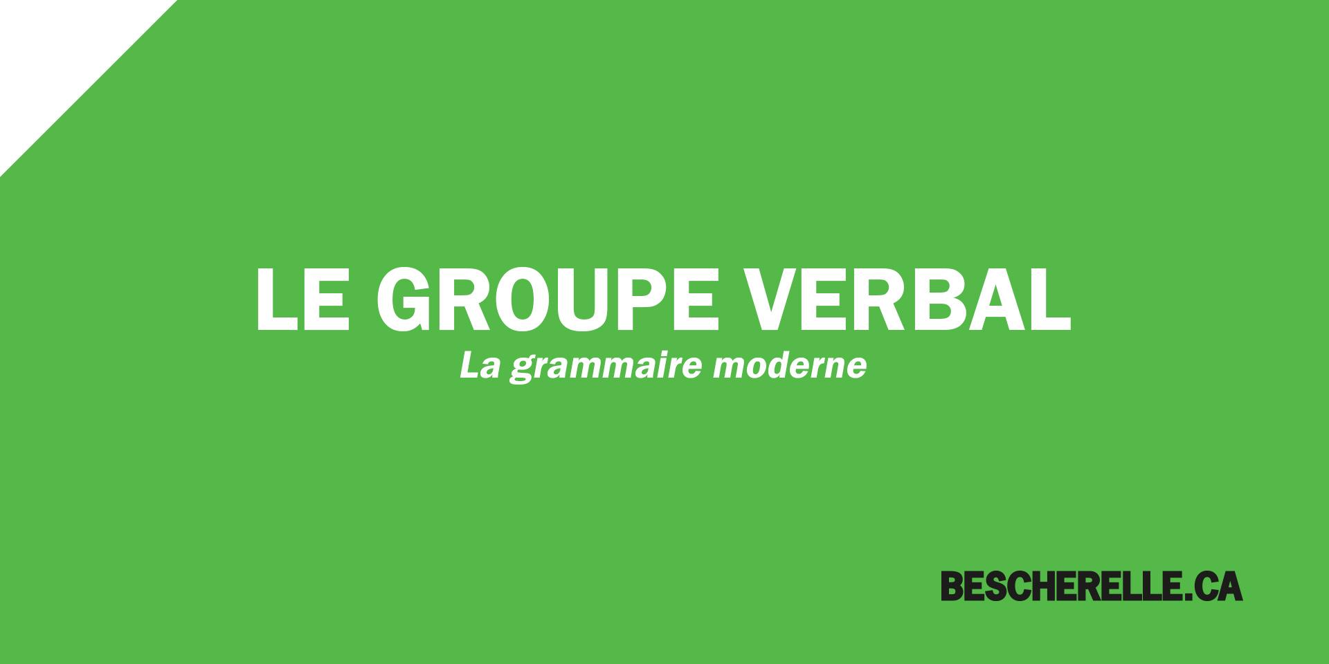 La Grammaire Moderne Bescherelle